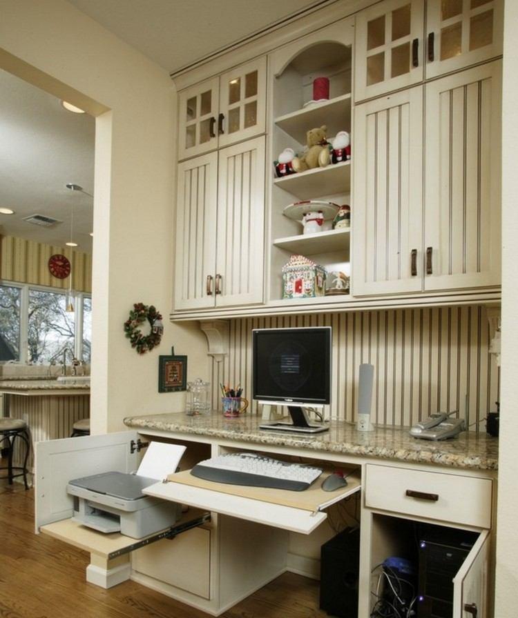 Arbeitsplatz Im Schlafzimmer Ideen  Arbeitsplatz Und Drucker Im Wohnzimmer Verstecken Ideen