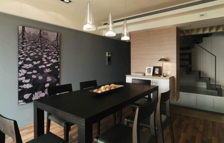 Esszimmer Wandfarbe Idee ~ Alles Bild für Ihr Haus Design Ideen - esszimmer graue wand