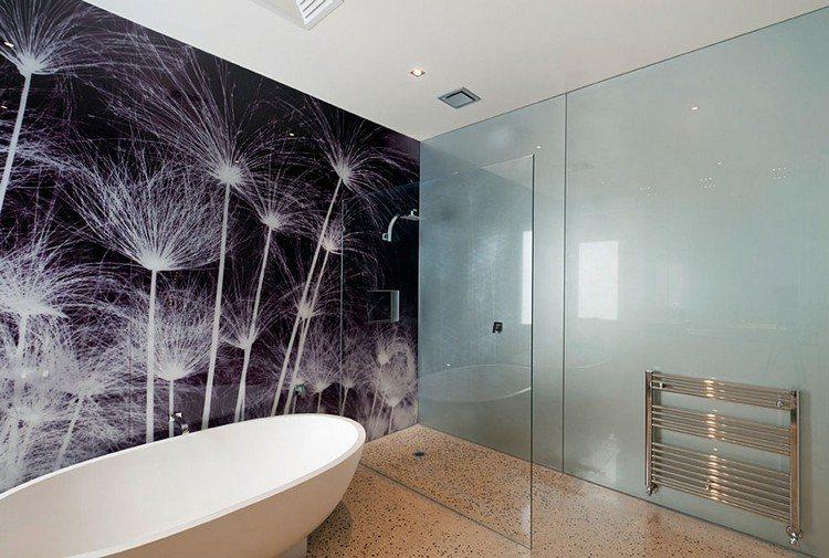 hausdekoration und innenarchitektur ideen  kühles badezimmer - kuchenwandgestaltung ideen fliesen glas
