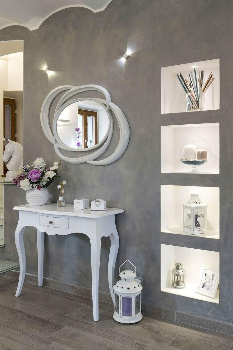 Moderne Wandgestaltung Mit Farbe Wohnideen Wohnzimmer Lila Farbe