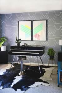 Mit Farbe Wandmuster streichen - kreative Wandgestaltung
