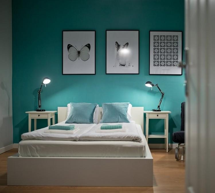 Wohnideen für Farbgestaltung Wohnzimmer 12 Wandfarben - schlafzimmer in turkis