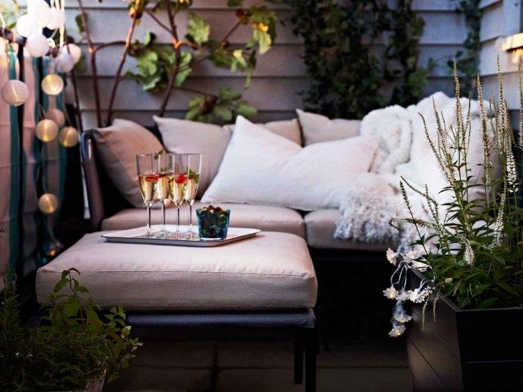 Balkonmöbel für kleinen Balkon - 20 platzsparende Ideen - zubehor fur den outdoor bereich