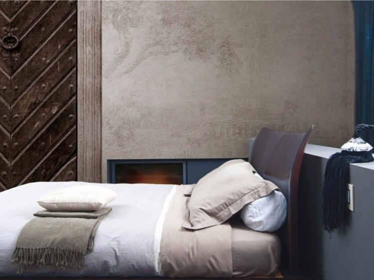 Schlafzimmer Mit Holz Tapete | Wandtattoo Eulen | Haus Renovieren