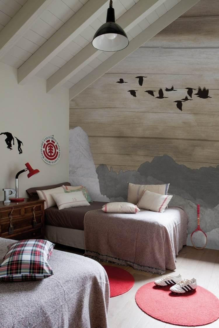 Braune Tapete Schlafzimmer | Bilderrahmen Dekorieren ...