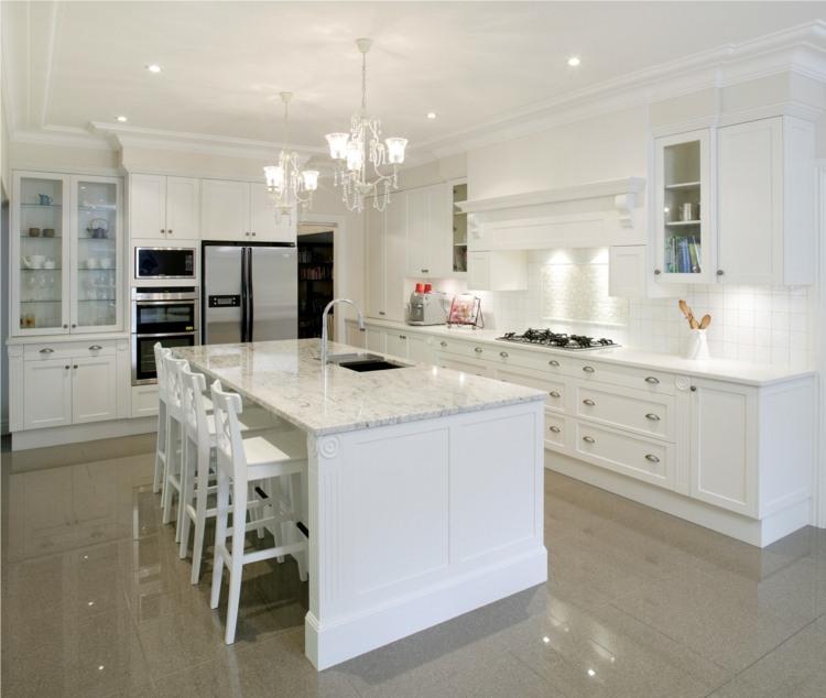 Küche im Landhausstil modern gestalten - 34 Raum Ideen - moderne kuche gestalten