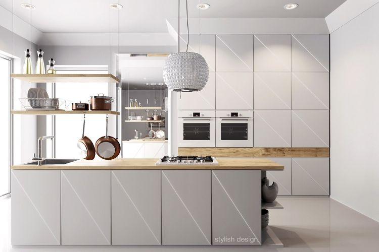 Berühmt Holz Küchenschränke Moderne Bilder - Küchen Ideen ...