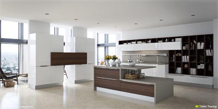 25 Moderne Küchen - Einrichtungsideen in Weiß und Holz - moderne kuchen weiss holz