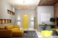 25 Wohnzimmer Ideen - Einrichten mit gelben Akzenten
