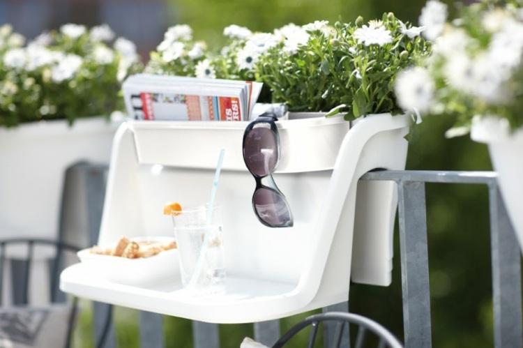 Balkon Ideen Blumenkasten Gelander. kletterpflanzen garten auf dem ...