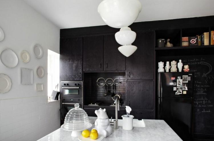 Schwarze Kuche Designer Ideen Moderne Wohnung Villawebinfo Moderne Hi Macs  Kuche Insel