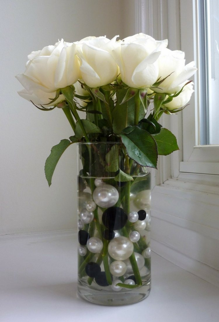 Deko vase ideen landhaus deko f r haus ideen top - Glasvasen dekorieren ...