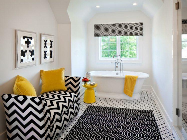 Gelb Im Badezimmer Verwenden Für Fröhliche \ Peppige Akzente   Badezimmer T  Form