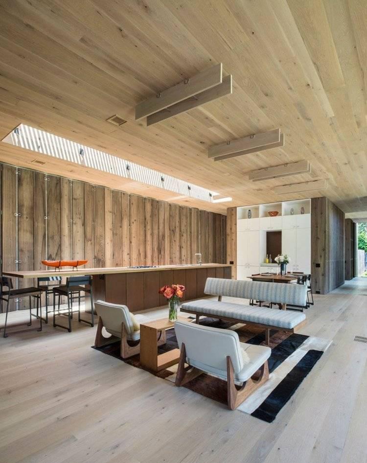 Fantastisch Wohnzimmer Holzverkleidung Zeitgenössisch ...