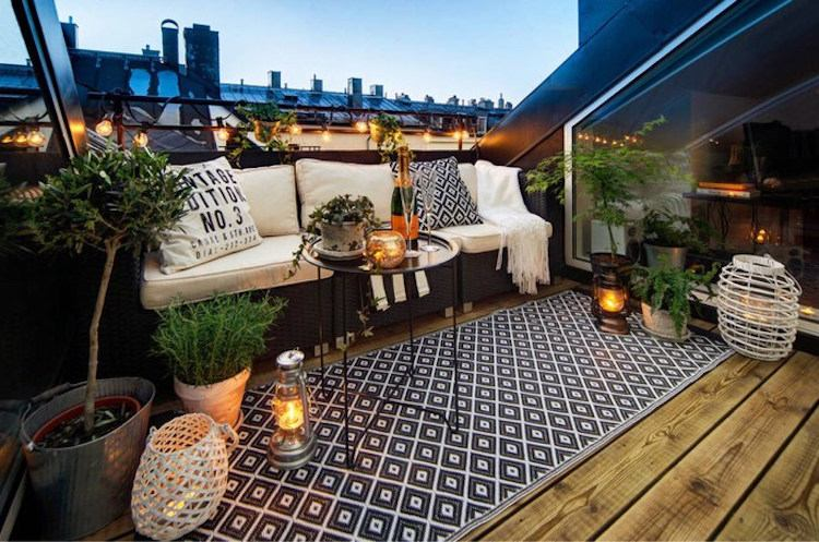 Dachterrasse gestalten - Ideen für Dachloggia im Schrägdach - ideen terrasse gestalten