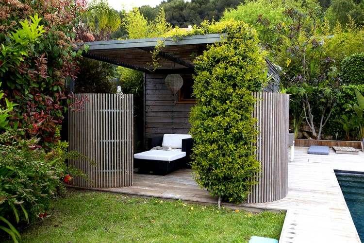 Paravent für Garten - 15 Ideen für einen beweglichen Sichtschutz - tipps sichtschutz garten privatsphare