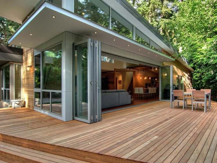 Glasfaltturen Fur Terrasse Und Wintergarten 20 Inspirationen