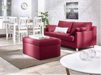 Rote Couch im Wohnzimmer - Welche Wandfarbe und Co. passen ...