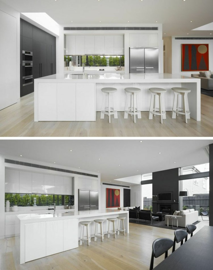 Schmale Fenster für die Küche Viel Licht \ perfekte Privatsphäre - schmale fenster kuechen gestaltung