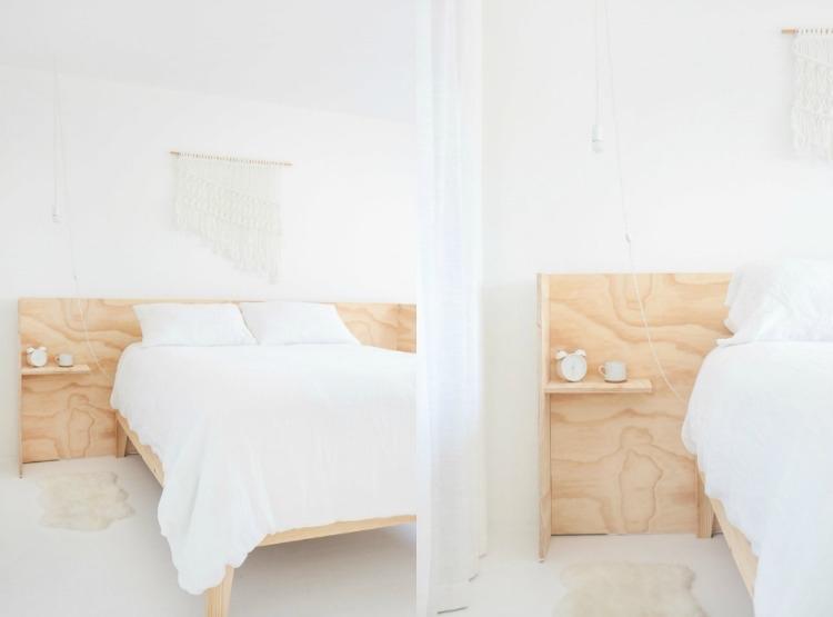 Bett mit Regal - 20 Ideen mit integrierter Ablagefläche - bett regal stauraum ablage