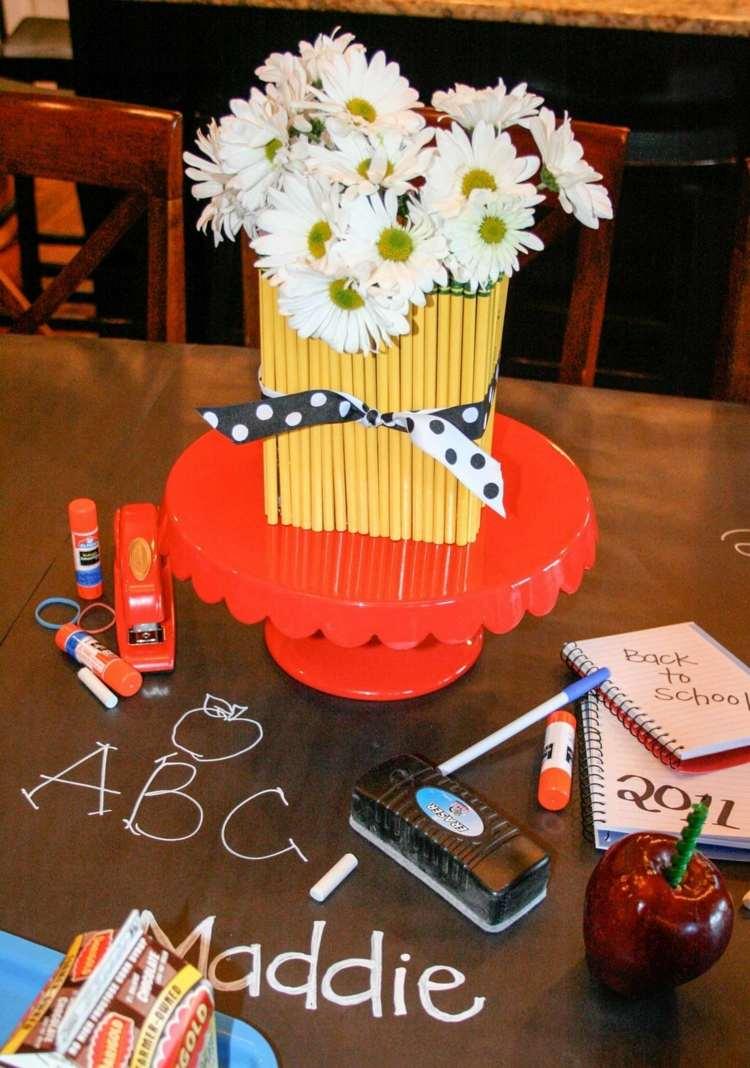 Tischdekoration Einschulung Tischdeko Schulanfang Ideen Neu Luxus