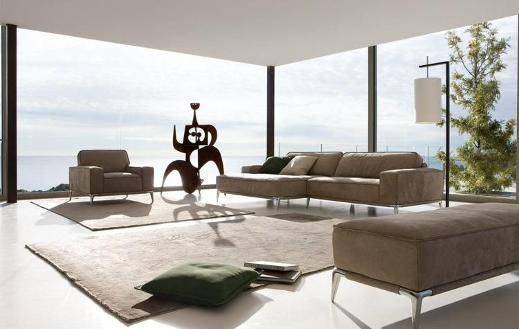 Wohnzimmer Ideen mit brauner Couch für ein angesagtes Interieur - couchgarnitur wohnzimmer pictures