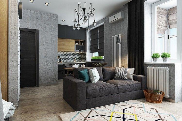 wohnzimmer fliesen grau wohnung einrichten wohnzimmer grau ... - Wohnungen Einrichten Beispiele