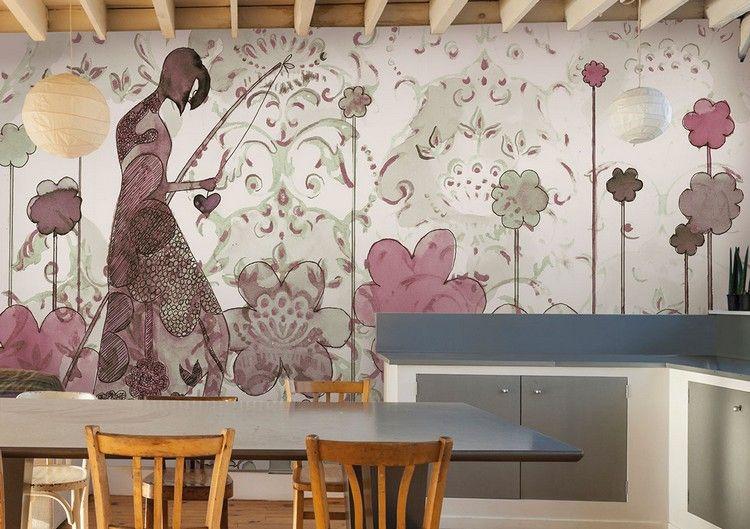 Tapete für Küche auswählen - 20 Ideen für Wandgestaltung in der Küche - kuche wandgestaltung ideen farbe tapete