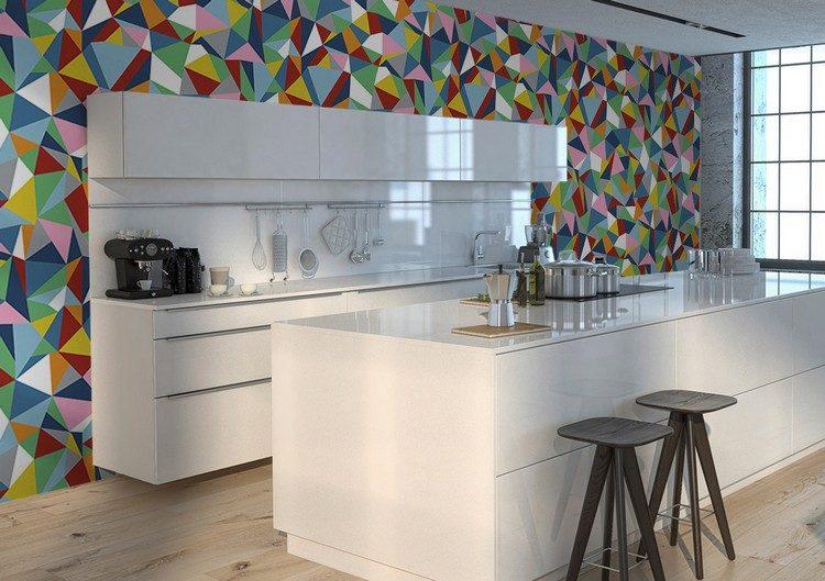 Tapete für Küche auswählen - 20 Ideen für Wandgestaltung in der Küche - wandgestaltung kuche modern
