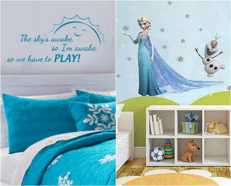 Kinderzimmer gestalten - 14 Ideen für das Eiskönigin-Mottozimmer - kinderzimmer gestalten wand