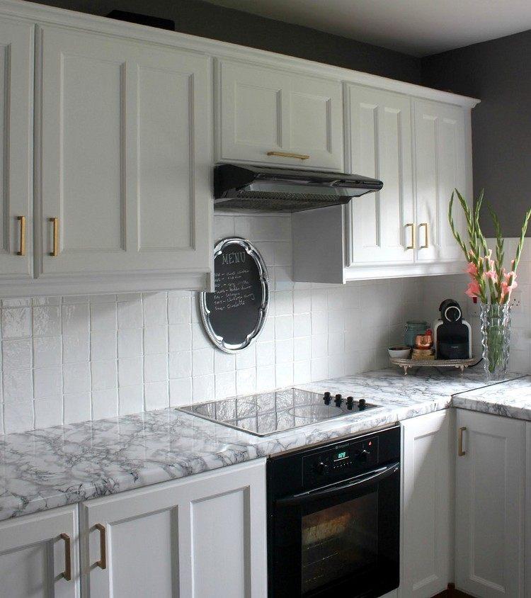 Klebefolie Für Küche Verwenden Und Die Küchenmöbel Neu Gestalten   Matte  Kuchenfronten Arbeitsplatten Pflegeleicht