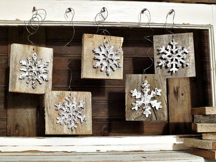 Mit Recyceltem Holz Basteln Zu Weihnachten Fur