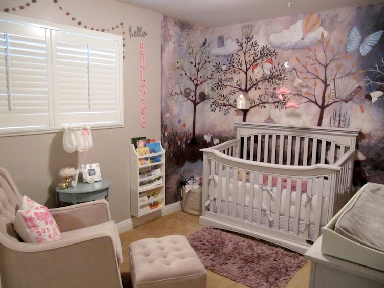 Wald-Kinderzimmer - Ein geschlechtsneutrales Themenzimmer gestalten - kinderzimmer gestalten madchen