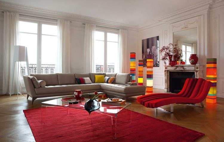 Wohnzimmer Couch mit anderen Sitzgelegenheiten kombinieren - 10 Ideen - couchgarnitur wohnzimmer pictures