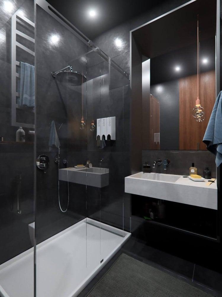 Badezimmer Wand Statt Fliesen