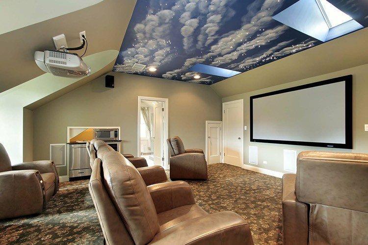 Beamer im Wohnzimmer integrieren - Ideen für einzigartiges - heimkino wohnzimmer ideen