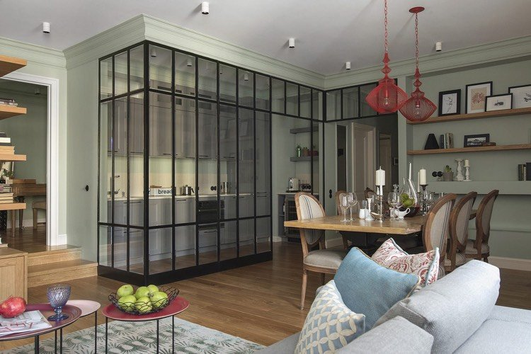 Großartig Arctar Offene Küche Schiebetür   Offene Kueche Wohnzimmer Abtrennen Glas