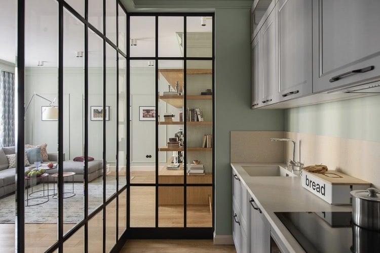 Trennwand kche wohnzimmer latest large size of im - Trennwand glas wohnzimmer ...