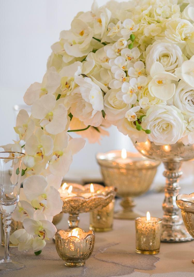 Kerzen Deko Hochzeit Herbst Tischdeko Mit Blumen 20 Romantische