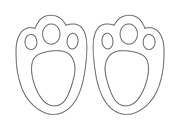 Bunny Feet Template Printable Erieairfair