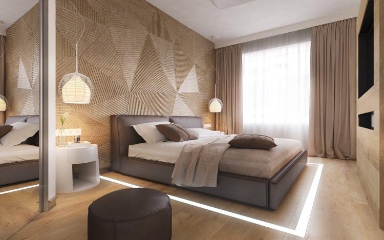 moderne schlafzimmergestaltung | hwsc.us - Ideen Moderne Schlafzimmergestaltung Lamellenwand