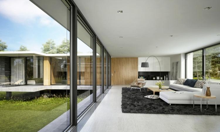 Wohnzimmer ohne Fernseher einrichten - Ideen für die Raumgestaltung - groses wohnzimmer einrichten