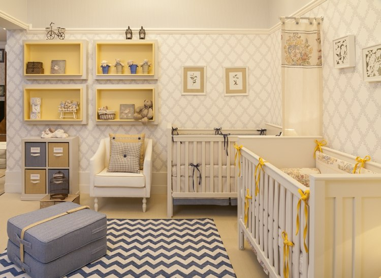 Babyzimmer für Zwillinge einrichten und gestalten - 30 - kinderzimmer blau mdchen