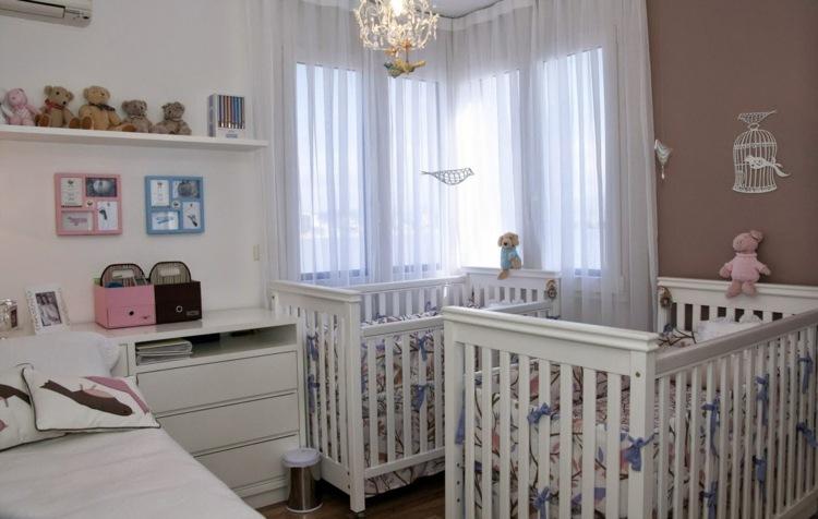 Babyzimmer für Zwillinge einrichten und gestalten - 30 - kinderzimmer praktisch einrichten