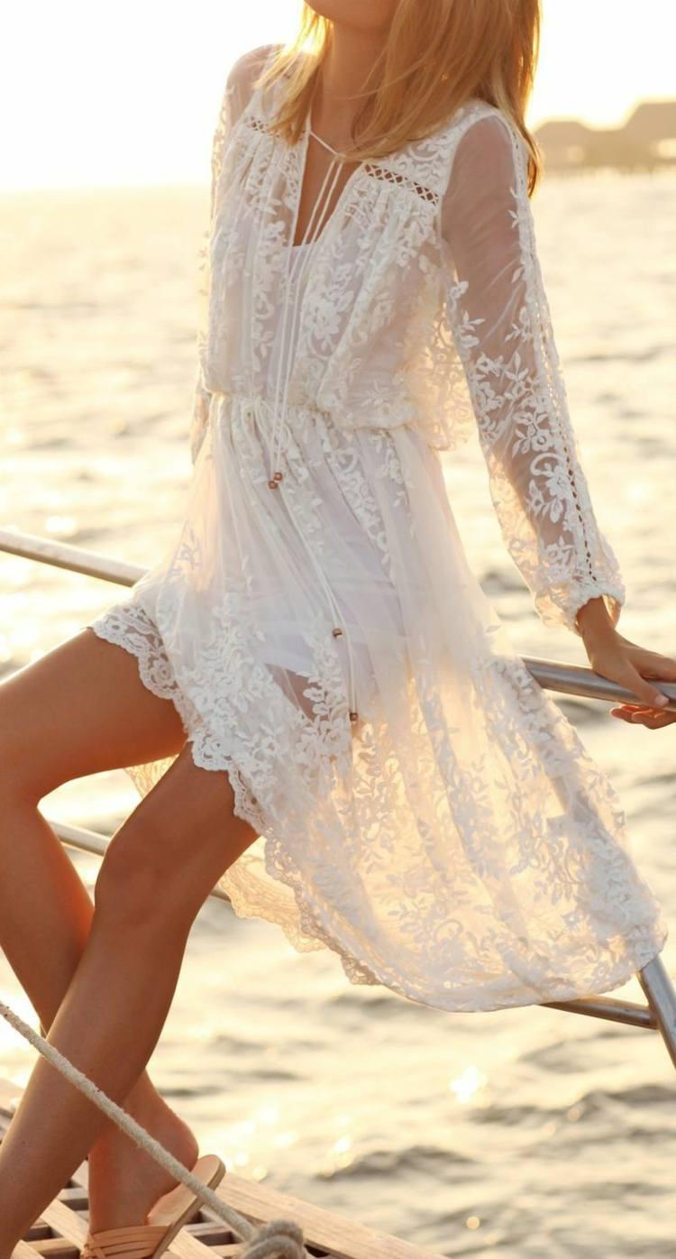 Brautkleid Fur Strandhochzeit Allie Light Lace Brautmode