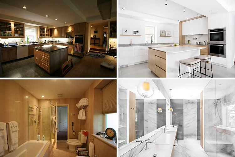 Vorher-Nachher Renovierung \ Modernisierung einer Wohnung in Kanada - wohnung komplett renovieren