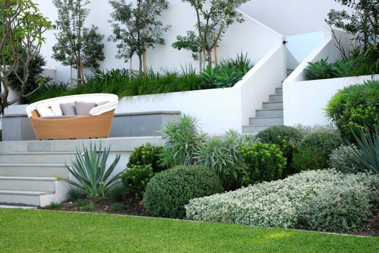 gartengestaltung hanglage modern. gartengestaltung hanglage mit ... - Gartengestaltung Hanglage Pflegeleicht