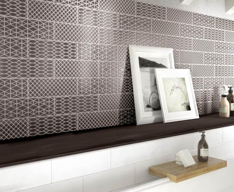 Italienische Badfliesen und 26 moderne Einrichtungsvorschläge für - badezimmer anthrazit weis fliesen