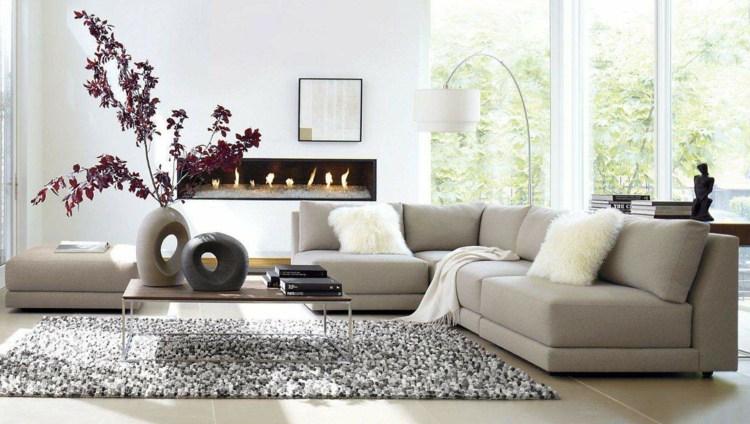 Modernes Wohnzimmer einrichten in den Farben Grau, Beige oder Weiß - wohnzimmer bilder modern