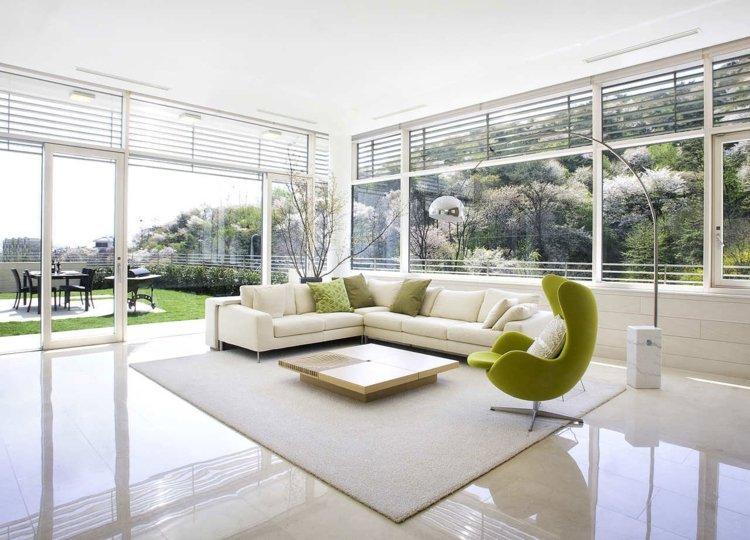 wandgestaltung mit farbe wohnzimmer grün - http .... farbe gruen ...